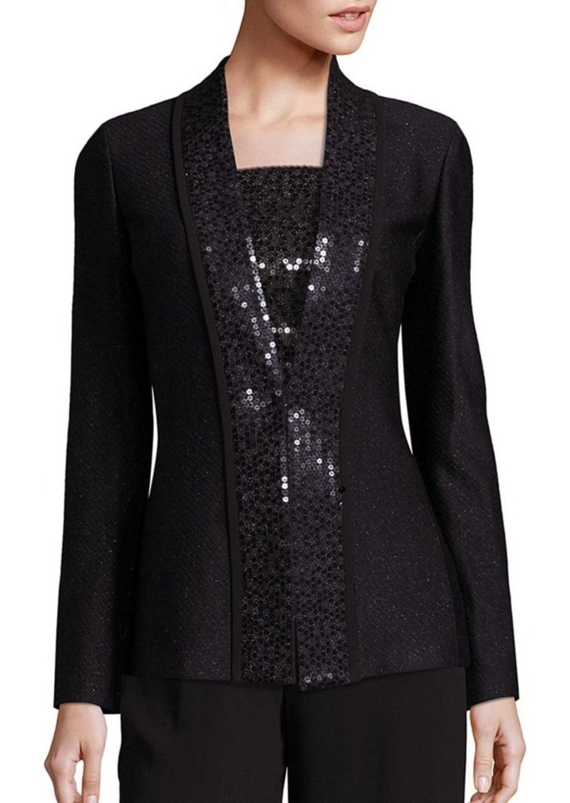 St. John Sequin Wool-Blend Jacket