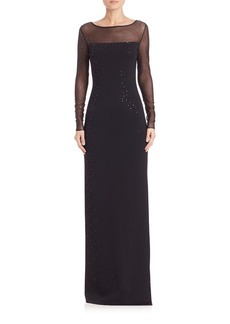 St. John Caviar Collection Sequined Milano Gown