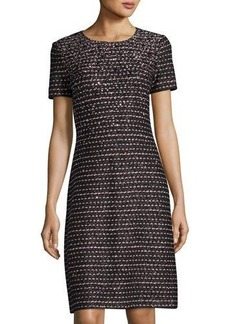 St. John Shimmer Bouclé Embellished Dress