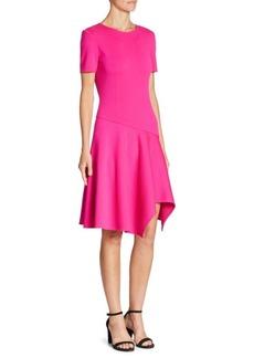 St. John Short Sleeve Asymmetrical Dress