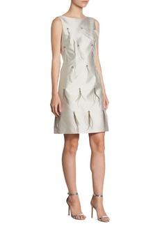 St. John Silk Feather Dress
