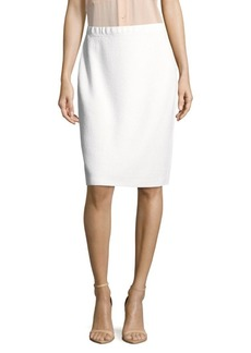 St. John Solid Wool-Blend Skirt
