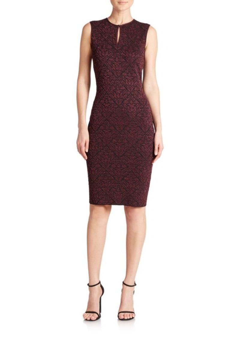 St. John Sparkle Brocade Knit Dress