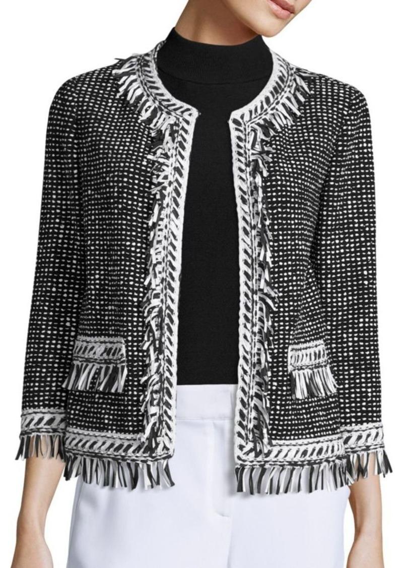 St. John Speckled Tweed Jacket