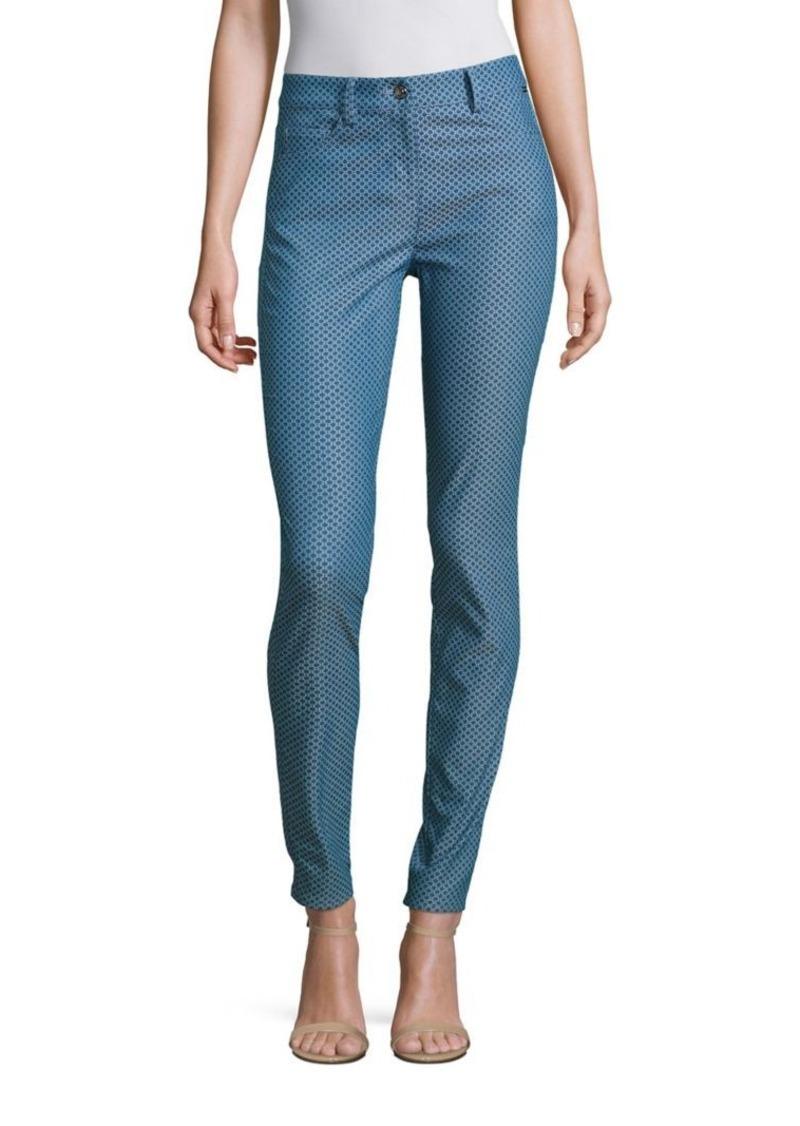 St. John Sport Collection Patterned Cotton-Blend Pants