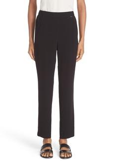 St. John Sport Collection Satin Back Crepe Pants