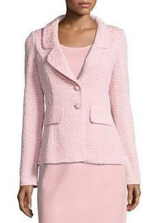 St. John Spring Tweed Knit Blazer