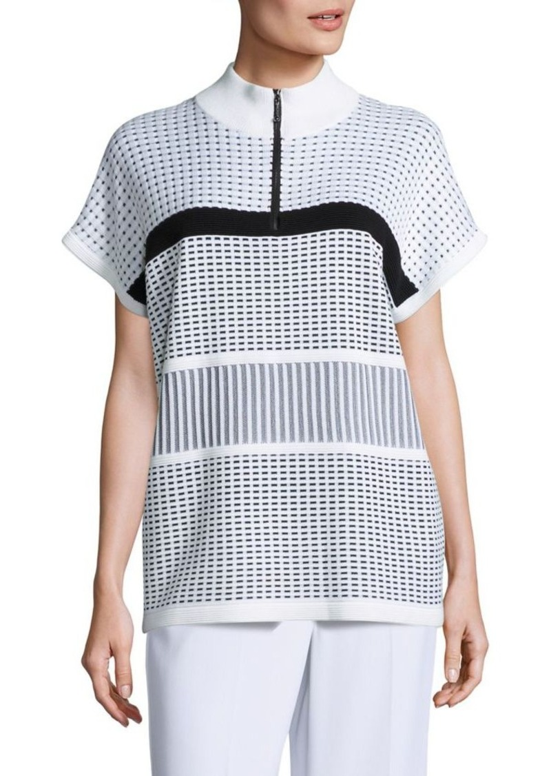 St. John St. John SportSport Collection Two Tone Illusion Top