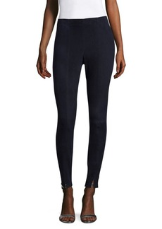 St. John Stretch Suede Leggings