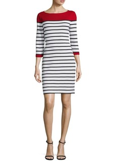 St. John Striped Boatneck Dress