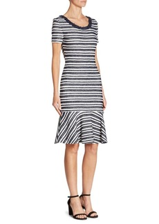 St. John Striped Knit Dress