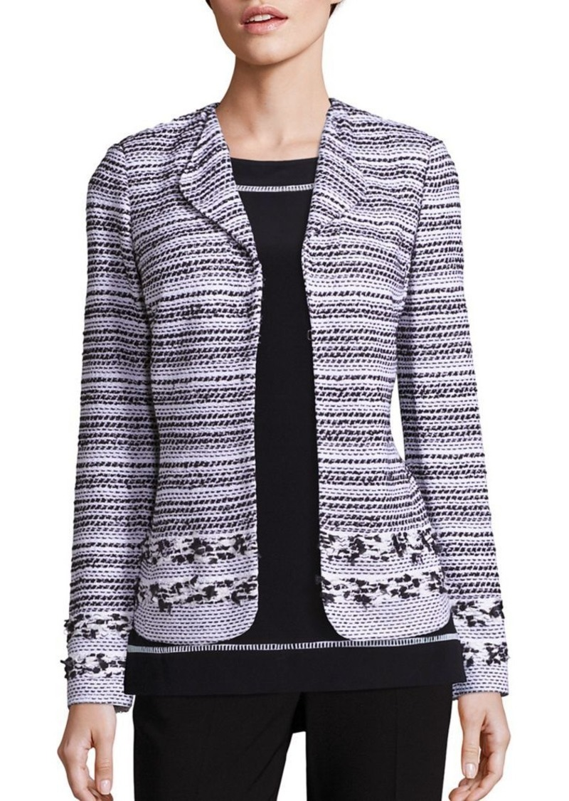 St. John Striped Tweed Jacket