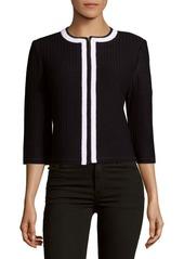 St. John Three-Quarter Sleeves Knitted Jacket