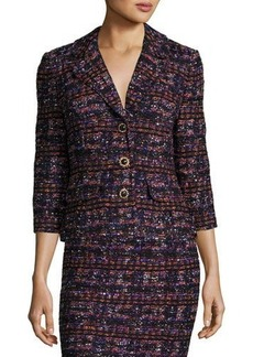 St. John Tweed 3/4-Sleeve Jacket
