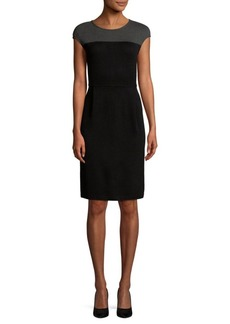 St. John Two-Tone Sheath Dress