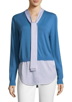 St. John V-Neck Cardigan Shirt