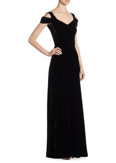St. John Velvet V-Neck Gown