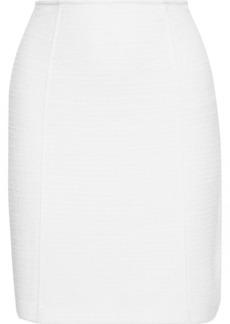 St. John Woman Bouclé Mini Skirt White
