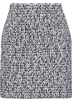 St. John Woman Bouclé-tweed Mini Skirt Black