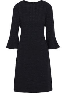 St. John Woman Fluted Bouclé Dress Black