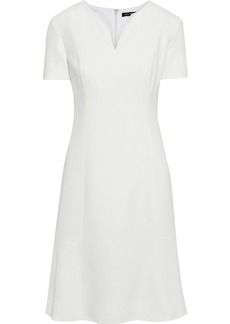 St. John Woman Fluted Cady Dress Off-white