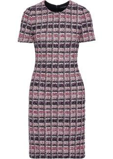St. John Woman Metallic Bouclé-tweed Dress Pink