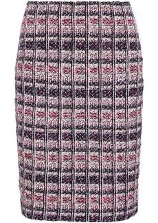 St. John Woman Metallic Bouclé-tweed Mini Skirt Pink