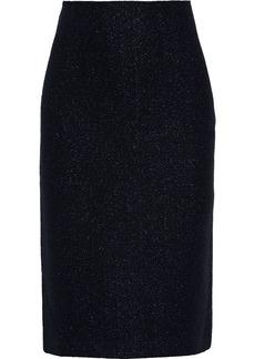St. John Woman Metallic Wool-blend Bouclé Pencil Skirt Black