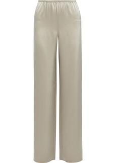 St. John Woman Satin Wide-leg Pants Beige