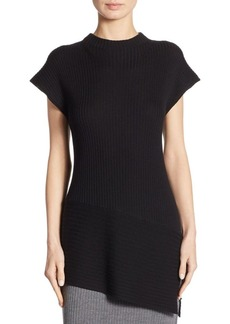 St. John Wool Asymmetric Sweater
