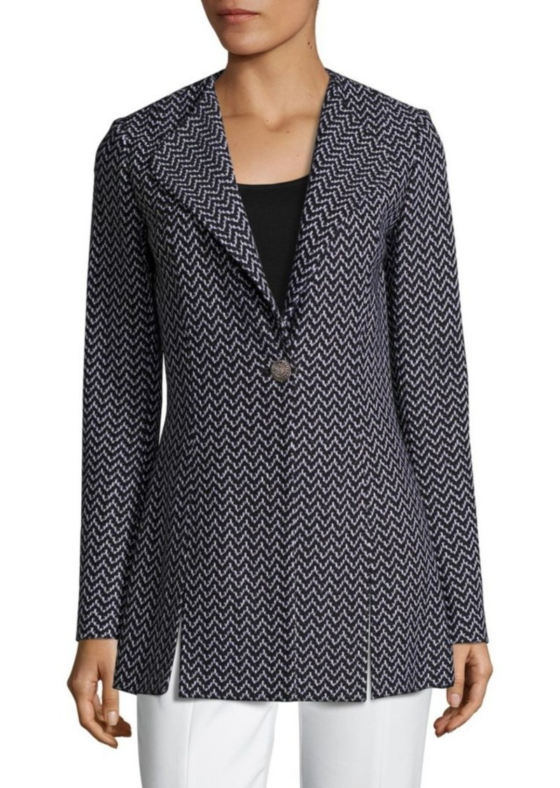 St. John Wool-Blend Chevron Jacket