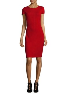 St. John Wool Blend Sheath Dress