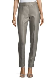 St. John Stretch Birdseye Skinny Ankle Pants