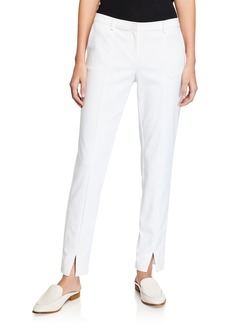 St. John Stretch Micro Ottoman Ankle Pants  Bianco