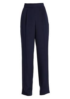 St. John Stretch Silk Pull-On Pants