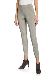 St. John Stretch Suede Suede Skinny Pants