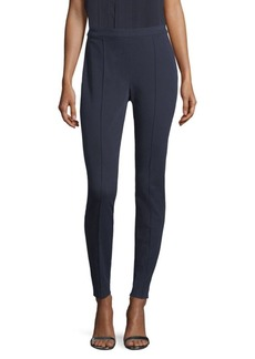 St. John Stretch-Twill Zip Leggings