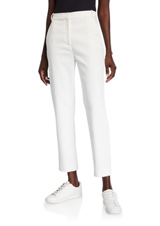 St. John Stretch Wash Canvas Tapered Ankle Pants with Pockets
