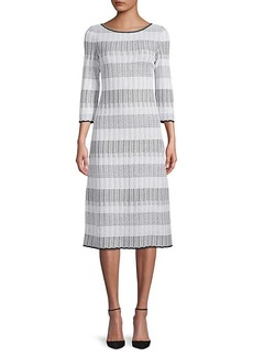St. John Stripe Knit Sheath Dress