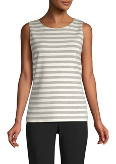 St. John Stripe Knit Shell