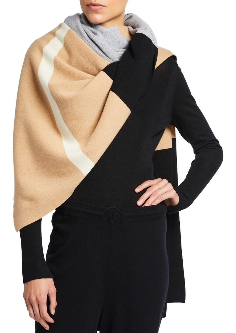 St. John Striped Cashmere Cape
