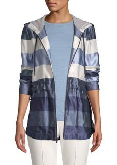 St. John Striped Hooded Jacket