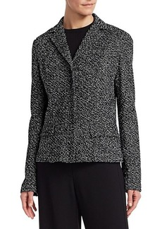 St. John Textured Bouclé Tweed Jacket