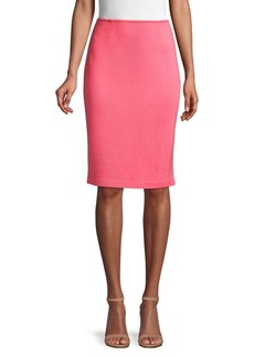 St. John Textured Pencil Skirt