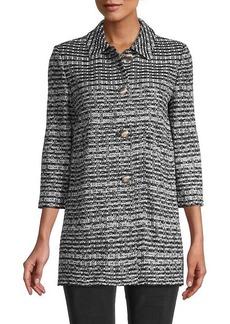 St. John Three-Quarter Sleeve Tweed Jacket
