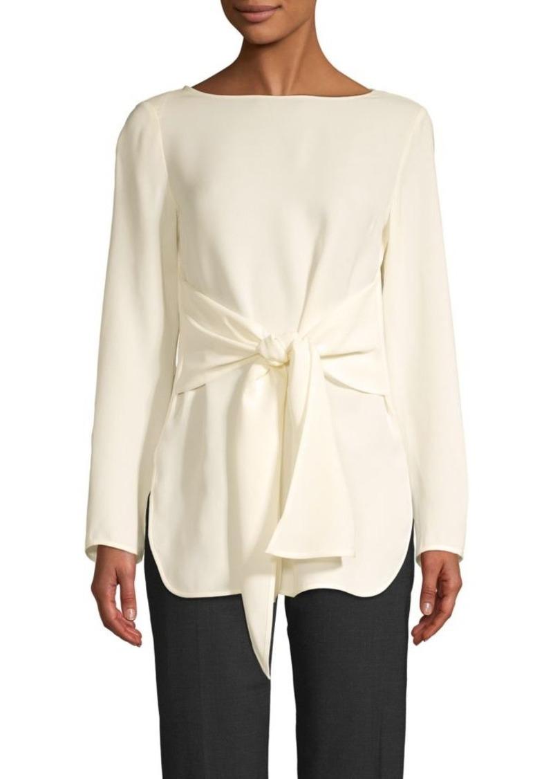 St. John Tie-Sash Silk Blouse