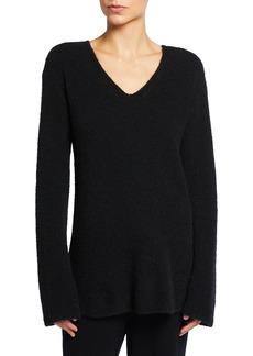 St. John Tunic Boucle Cashmere-Blend Sweater