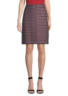 St. John Tweed A-Line Skirt