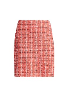 St. John Tweed Knit Mini Skirt