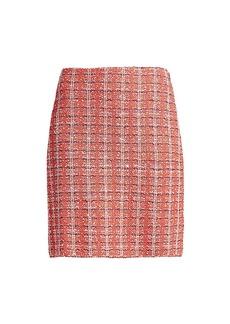 St. John Tweed Knit Mini Skirt